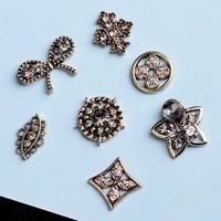 5 pcslot rhinestone pearl flower plate diamond button jewelry scarf for hair accessories sewing decorative clothing coat