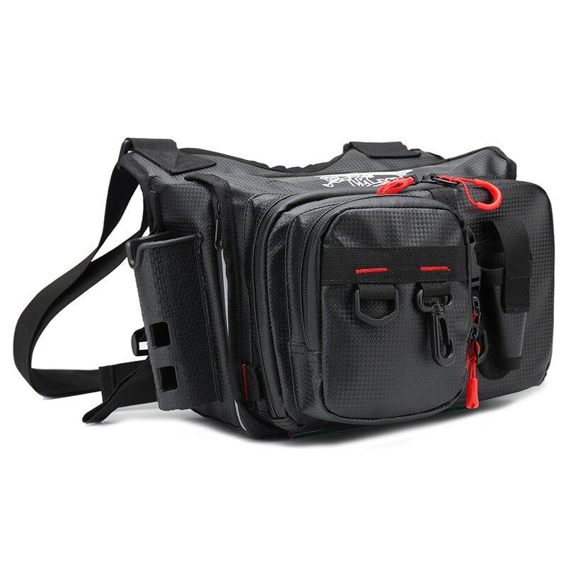 Multifunctional Waterproof Bag Fishing Bag Wooden Shrimp Fake Bait Bag Iron Plate Bait Bag Backpack Satchel Fishing Bag. enlarge