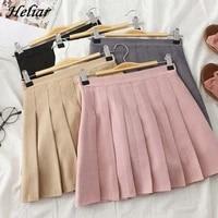 heliar women pleated skirt s 2xl high waist harajuku jk skirt preppy a line casual sweet cute mini skirts for women autumn