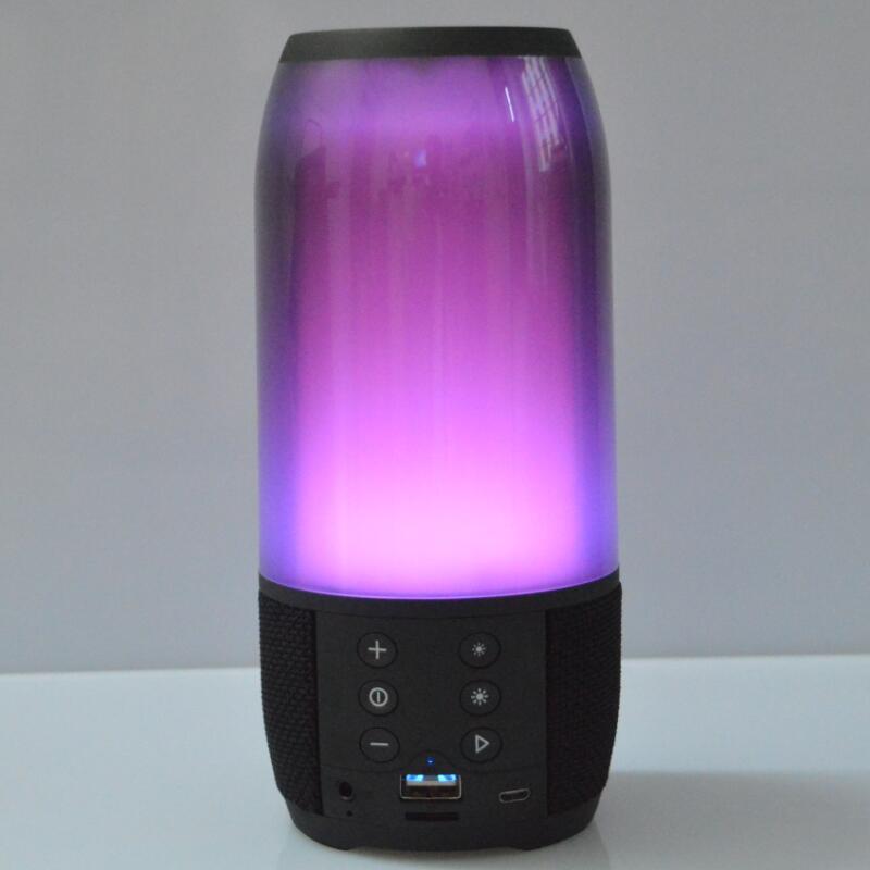 Цветная лампа, Bluetooth динамик, уличный Мини Портативный беспроводной музыкальный динамик, s карта, маленький сабвуфер, колонки Altavoz F4075A