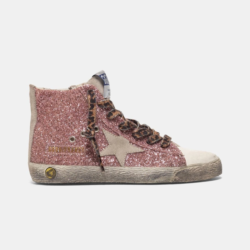 2021 Spring and Summer Pink Sequined Stars Children's Retro Old Small Dirty Shoes Boys and Girls Casual Parent-child Shoes QZ09 enlarge