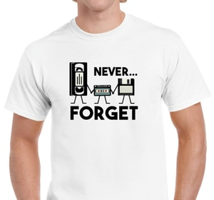 Men's Unisex Never Forget 70's 80's Music Retro Funny Geek Gift Father Day t shirts men 2020 summer