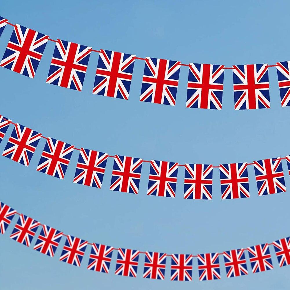 Флажки флажки в британском стиле, флаг страны Великобритании и Великобритании, 30 шт., 10 м, 2021