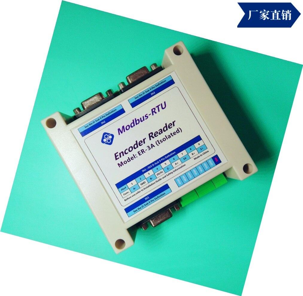 Er-3a معزولة MODBUS من صريف مقياس المغناطيسي صريف التشفير/وحدة جامع