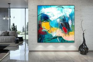 Abstract Painting Wall Art Decor Abstract Art Oversized Wall Art Modern Dorm Decor Original Extra Large Abstract Canvas Oil