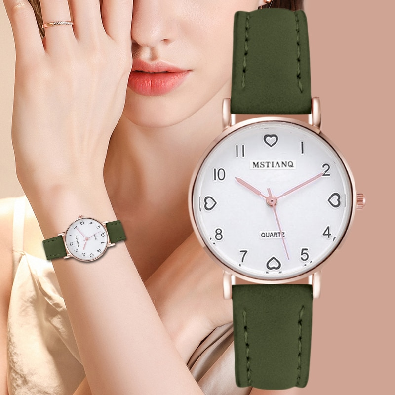 2020 New Watch Women Simple Fashion Casual Small Dial Women's watches Leather Strap Quartz Clock Wrist Watches Gift Reloj mujer women fashion quartz round wrist watches simple vintage small dial watch sweet leather strap outdoor sports wrist clock gift