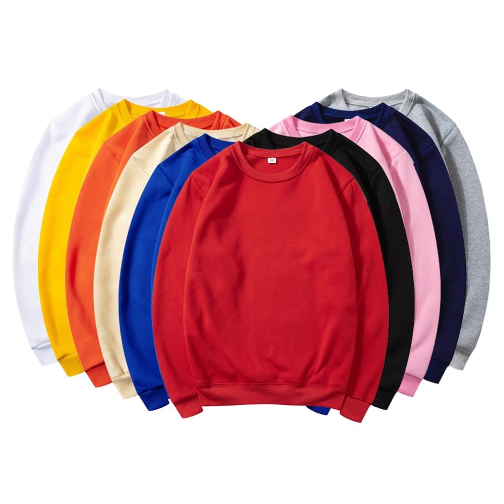 Sweat-Shirt à col rond pour hommes/femmes, couleur unie avec imprimé, Logo personnalisé, Sweat-Shirt, Image personnage unisexe, tissu de Couple