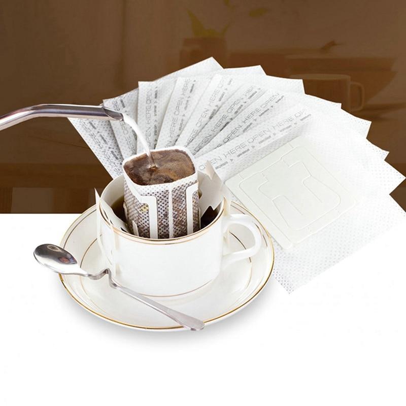 200 sztuk przenośne kroplówki kawa mielona filtry papierowe wiszące filtr kroplówki ucha