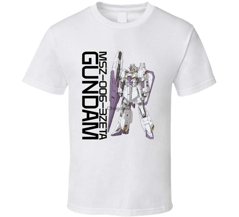 Gundam asa msz 006 3zeta camisa branca clássica t