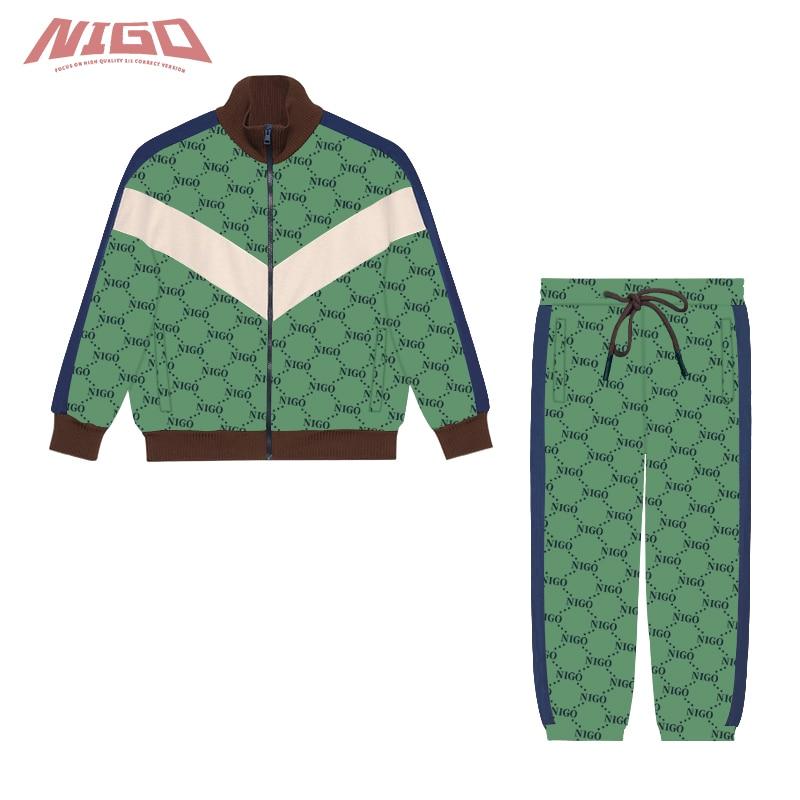 NIGO 3-14 Year Old Children's Knitted Zip-up Clothes Track Pants #nigo38642