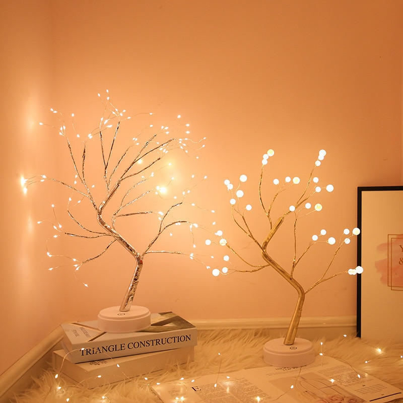 LED Night Light Christmas Tree Fairy Atmosphere Table Lamp For Home Bedroom Decoration New Year Holiday lighting USB/Battery 2018 special offer time limited christmas tree new led christmas lighting yard decoration 1 6m led backdrop lamp h199
