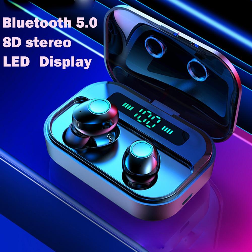 Беспроводные наушники Tws Bluetooth наушники fone de ouvido sem fio handsfree Наушники bluetooth спортивный светодиодный дисплей для всех телефонов
