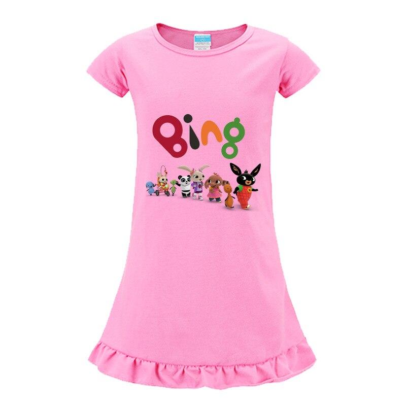 2-9 animales amigos conejo vestido niños vestidos de manga corta para niñas princesa verano fiesta Tutu noche vestido lindo niños ropa