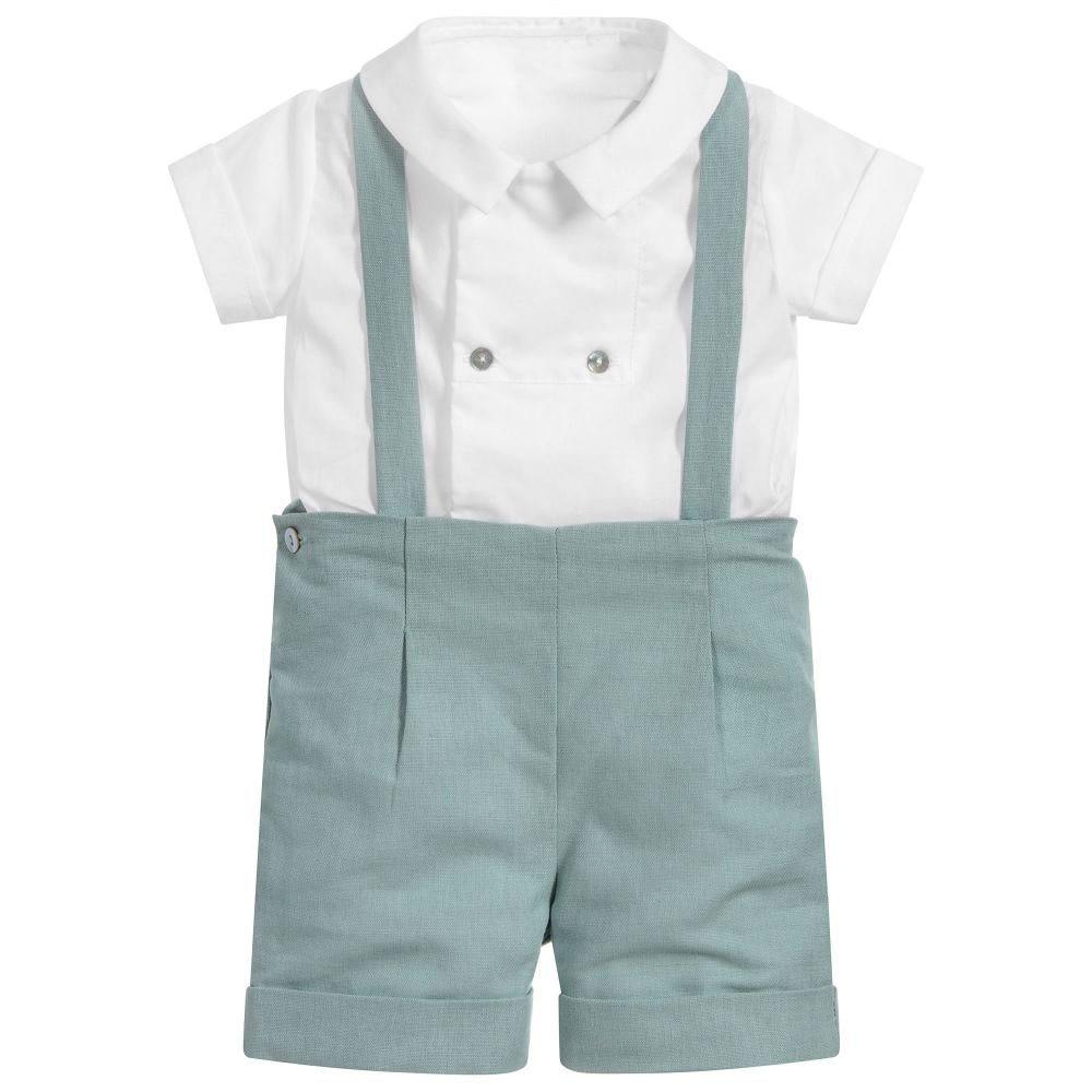 Baby Boy Boutique Clothes Set Infant Birthday Baptism Clothing Suit Kids Spanish Outfits White Shirt Pants Newborn Party Suit