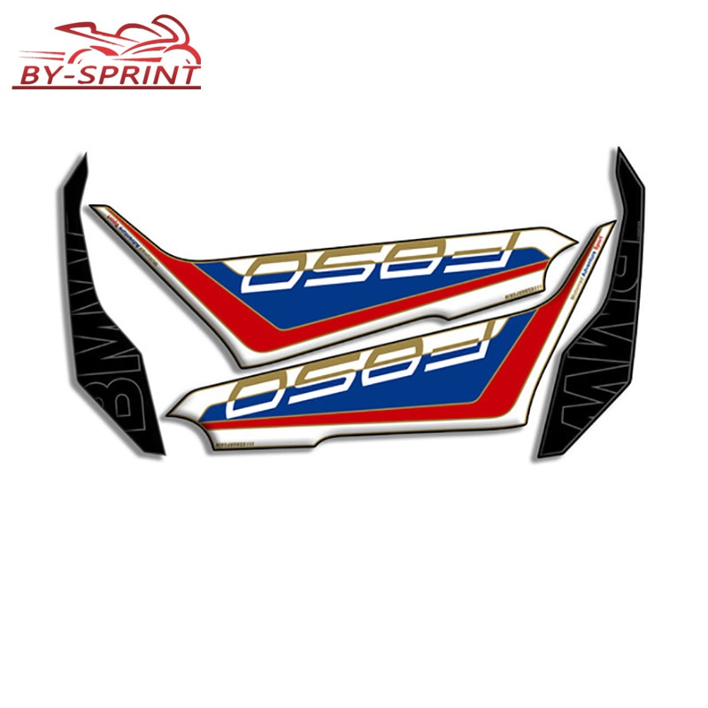 new 3d gel fuel tank side protection sticker fuel tank deca0ls racing kit sticker for bmw f850gs f850 gs 2020 For BMW F 850 GS f850gs 2018-2020 3D Gel Motorcycle Front Fairing Sticker Fuel Tank Side Knee Section Protector Decals Stickers
