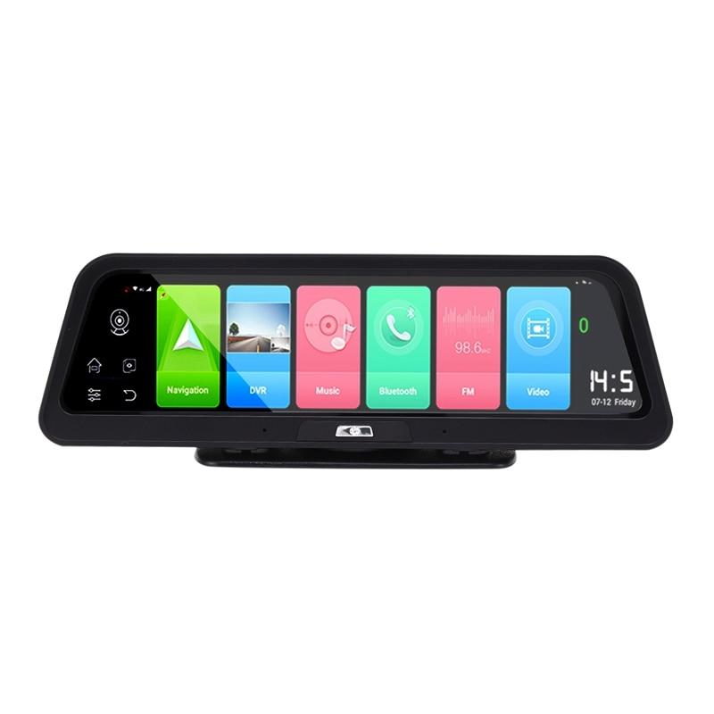 4G Car DVR 10 Inch Android 8.1 GPS Smart Streaming Mirror DVR Recorder Dual Lens Video 1080P Press Screen Recorder Dash Cam