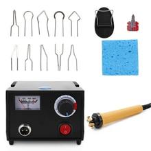Brûleur à bois professionnel pyrogravure stylo Machine à brûler gourde artisanat ensemble doutils avec fil de soudage haut température réglable