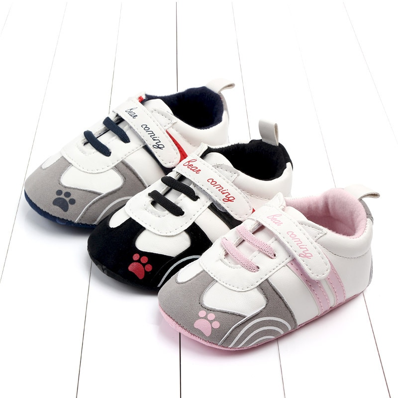 Newborn Baby Shoes Kid Sneaker Boy Unisex PU Patch Buckle Strap Infant Baby Girl Toddler Shoes New F