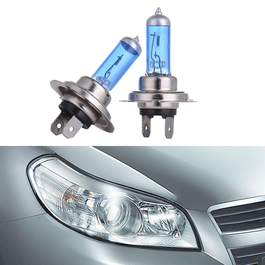 2 uds H7 de halógeno de 100W Luz brillante blanco bombillas de faro delantero de coche lámpara de bulbo 12V 12V 6000K camino accesorios 4X4 Atv rayo # zer