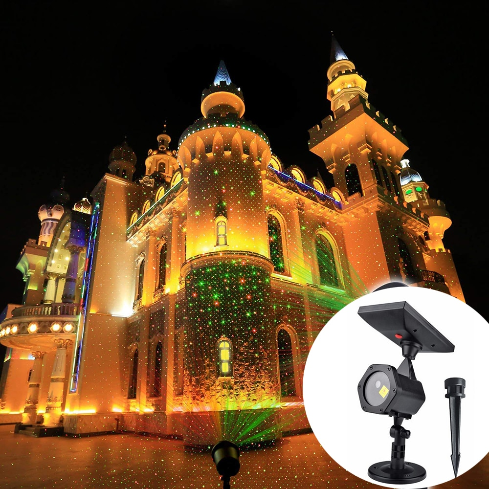 Solar LED Laser Projector Disco Light Waterproof Christmas DJ Party Stage Lights Outdoor Garden Lawn Landscape Projector Lamp outdoor solar garden lawn stage effect light fairy sky star laser projector waterproof landscape garden christmas decor lamp