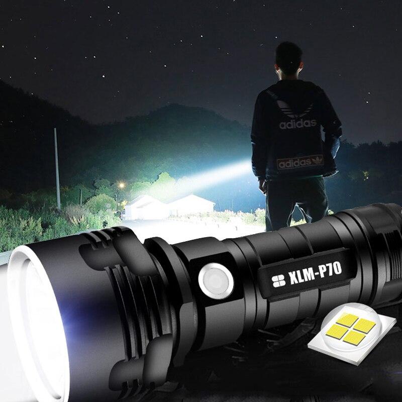 Z35 Linterna LED súper potente L2 XHP70 Linterna táctica USB recargable Linterna impermeable Linterna Ultra brillante Camping