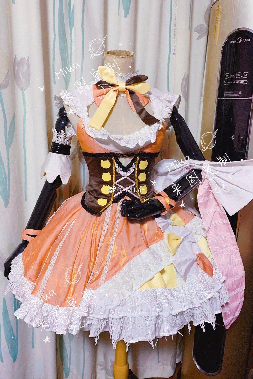 [صنع وفقا لطلب الطلب] hololivtuber موموسوزو نين جميل لوليتا فستان موحد تأثيري حلي هالوين حفلة الزي للنساء الفتيات