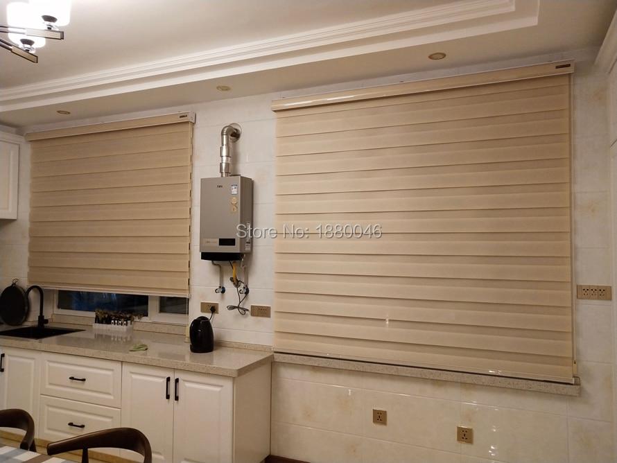 Sudeste Da Ásia Flesh cor Imitação Tecido de linho cortinas de rolo da janela blinds zebra blinds de liga de Alumínio para Cozinha/quarto