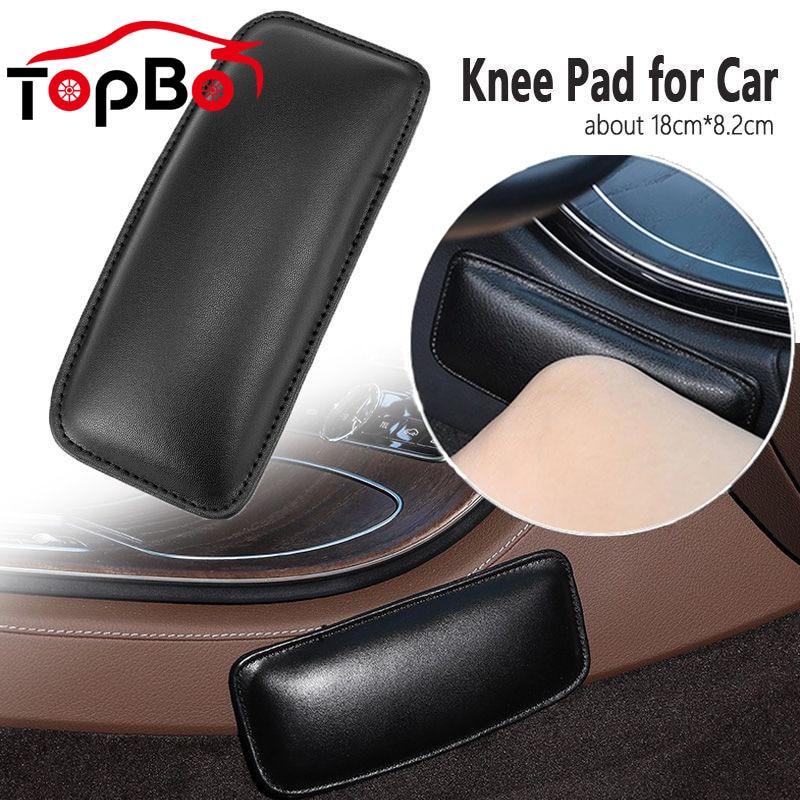 AliExpress - Comfortable PU Leather Car Knee Pad Cushion for Car Interior Pillow Elastic Cushion Memory Foam Auto Accessories