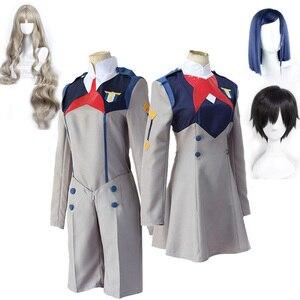 Anime DARLING in the FRANXX  HIRO ICHIGO MIKU KOKORO School Uniform Cosplay Costume Sets Halloween Suit Outfit wigs