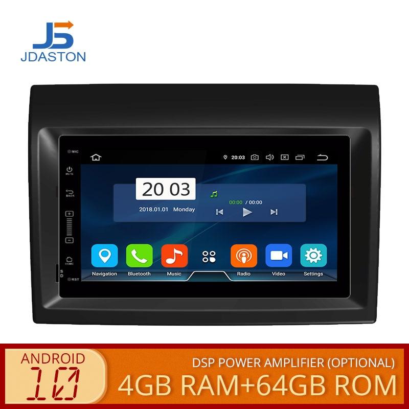 JDASTON Android 10,0 reproductor de DVD del coche para Fiat Ducato Citroën Jumper PEUGEOT Boxer Multimedia GPS estéreo 1 Din coche Radio 4G + 64G CD