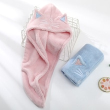 Microfiber Hair Towel Dry Quick Drying Bath Towel for Lady Absorption Turban Hair Dry Cap Turban Hea