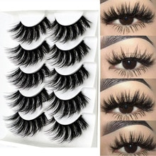 5Pairs/Set New False Eyelashes Faux Mink Hair Wispies Fluffy 3D Multilayers Eye Lash Extension Woman