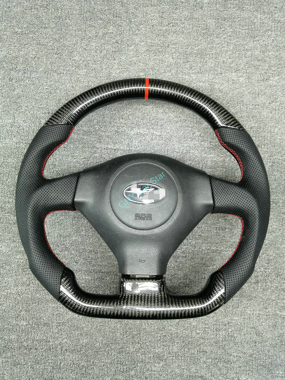 100% real da fibra do carbono volante do carro para 2005-2007 subaru impreza legacy wrx