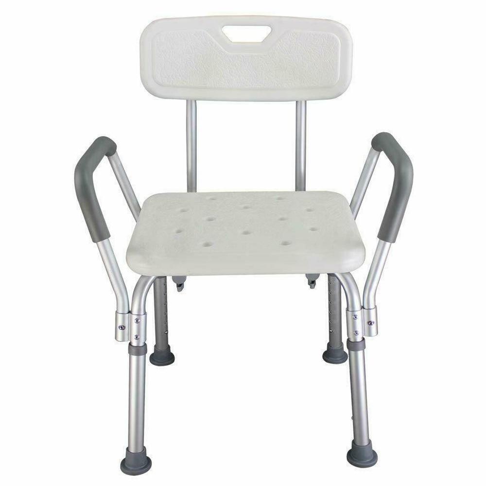 Adjustable Height Elderly Non-slip Bath Chair Bench Stool Seat Non-slip Bath Tub Shower Chair Safe Bathroom Environment Product