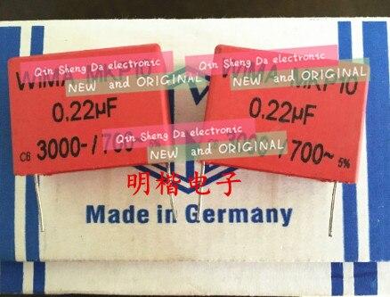 5 uds/10 Uds Alemania para WIMA MKP10 3000V 0,22 UF 224 3KV 220n P 37,5mm