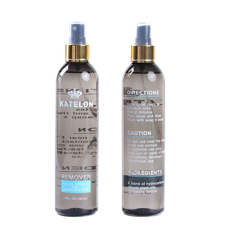 1 garrafa 9 oz 267ml removedor de fita dupla face para o laço peruca/fita extensões de cabelo/laço frontal/fechamento do laço/pele trama cabelo/peruca