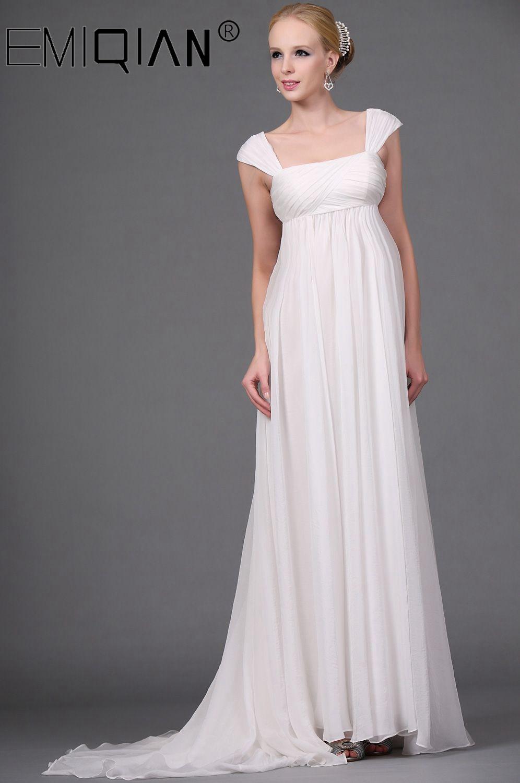 فستان زفاف شيفون للحوامل ، خصر عالي ، مصنوع حسب الطلب ، لحفل الزفاف