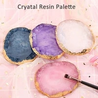 natural resin nail art palettes gel polish drawing holder dish art jewelry necklace ring earrings display tray desk decoration