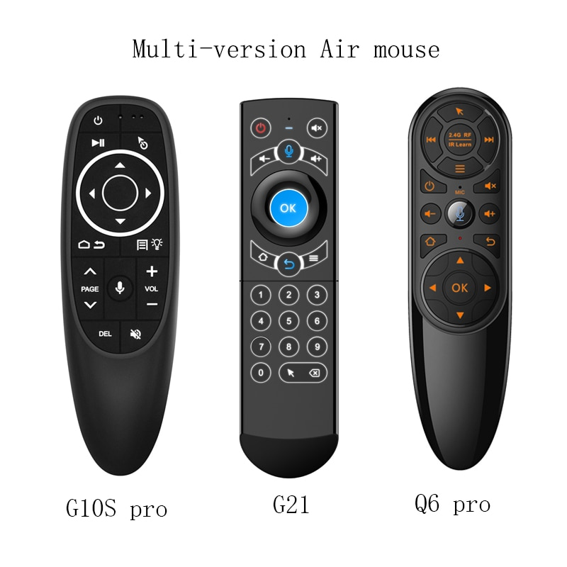 G10S Pro Voice Remote Control 2.4G Wireless Air Mouse 2.4G Wireless Gyroscope IR Learning for Androi