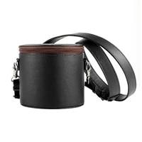Etui en cuir PU de voyage  anti-poussiere  sac de rangement  boite de transport pour HomePod Mini haut-parleur intelligent T84C