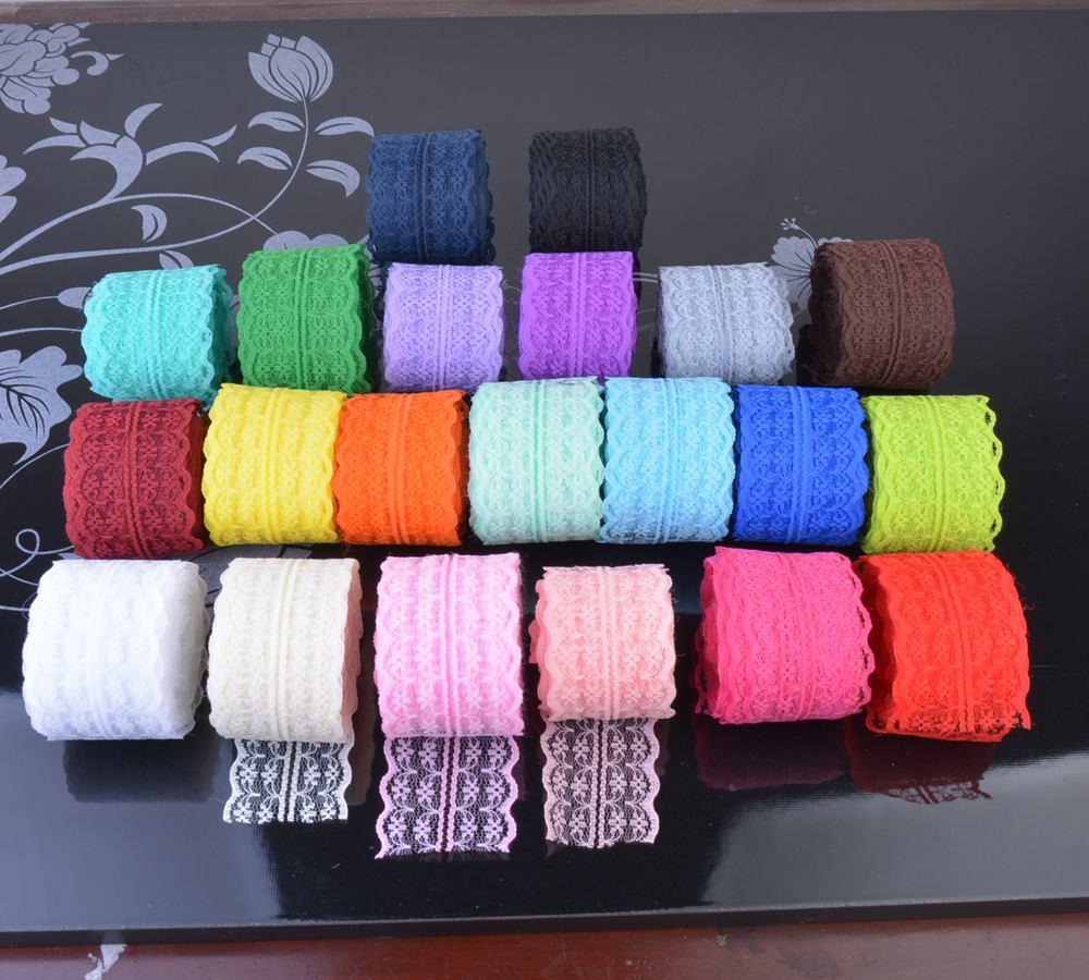 Cinta elástica con bandas, 21 colores, 10 metros (45mm), cinta multifunción para costura, cinta de encaje de Spandex, accesorio para prendas de vestir