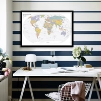 a1 size the world political map in 2019 canvas painting decorative poster wall living room home decor office school supplies