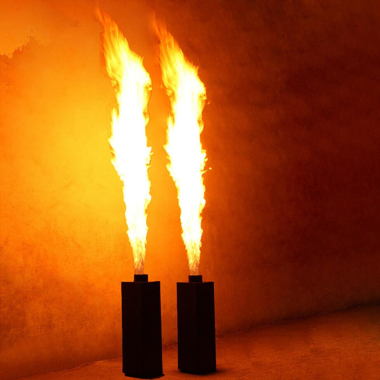 Honhill 2x200W Flamme Spritzen Projektor Bühne Projektor Feuer Wirkung DMX512 Aerosol Flamme DJ Bühne Projektor Maschine Party
