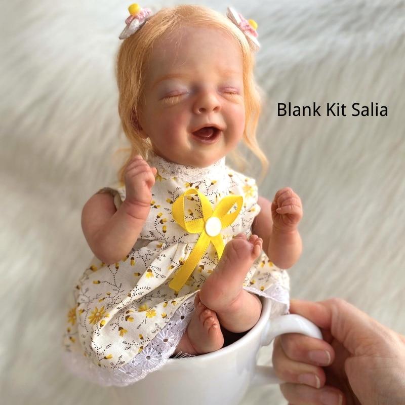 Bebe Reborn Kit Salia 12.5 Inches Reborn Baby Vinyl Doll Kit Unpainted Unassembled Doll Parts DIY Bl