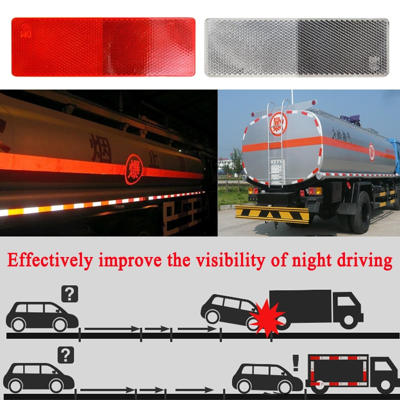 Truck Trailer Car Plastic Reflective Reflector Workplace Safety Night Warning Tape