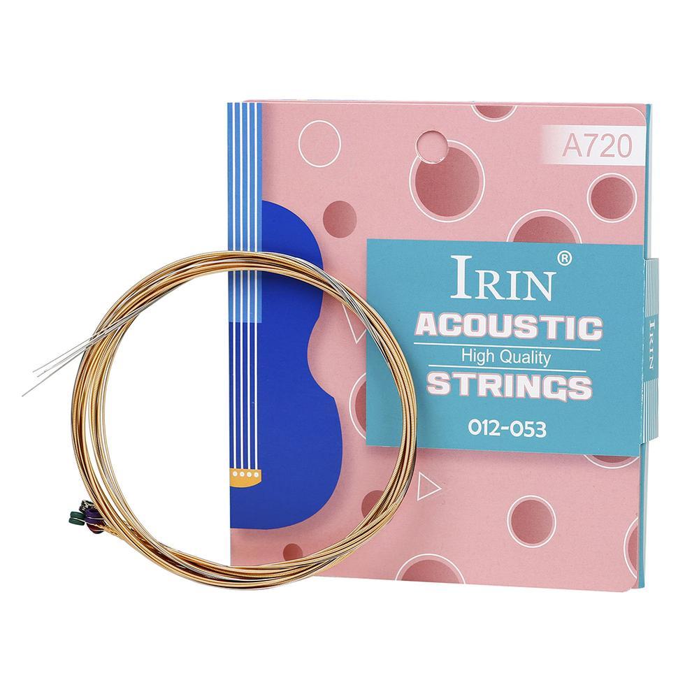 6 unids/set IRIN de Guitarra acústica cuerdas A720 sonido de alta calidad...