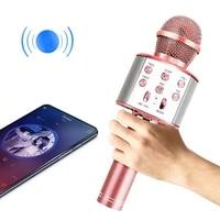 wireless microphone karaoke speaker bluetooth compatible home ktv music player singing handheld microphone