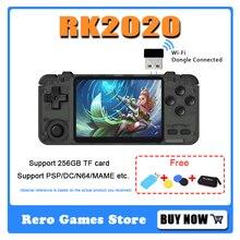 RK2020 rétro portable vidéo à main Console de jeu 64 bits système open source soutien 256GB TF carte RK2020 intégré 15000 jeux