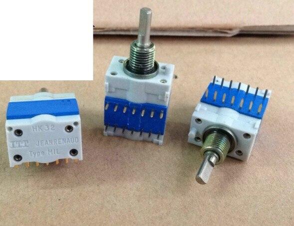 [Yyyk] t4 HK32 nanrenaud نوع MIL أداة دقيقة مفتاح دوار 9 تروس مفتاح تبديل
