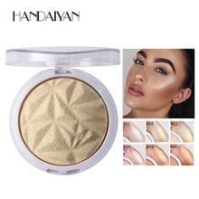Poudre scintillante surligneur Palette lueur 6 couleurs Base illuminateur mettre en évidence beauté visage maquillage Contour bronzant doré